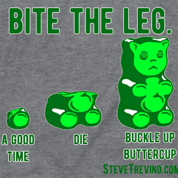 Steve Trevino Bite the Leg T-Shirt Close Up