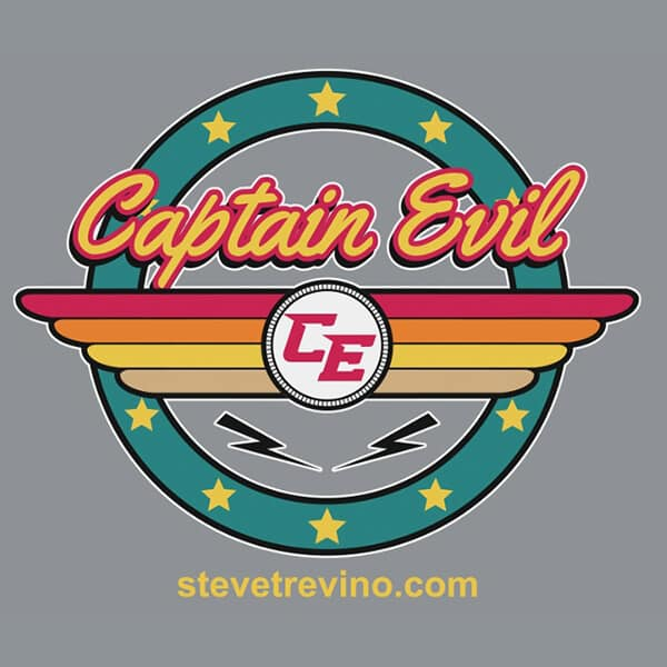 Steve Trevino Captain Evil T-Shirt Grey Detail